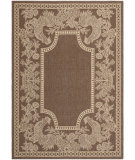 RugStudio presents Safavieh Courtyard Cy3305-3409 Chocolate / Natural Machine Woven, Good Quality Area Rug