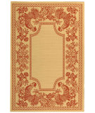 RugStudio presents Safavieh Courtyard Cy3305-3701 Natural / Red Machine Woven, Good Quality Area Rug