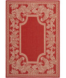 RugStudio presents Safavieh Courtyard Cy3305-3707 Red / Natural Machine Woven, Good Quality Area Rug
