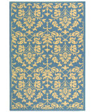 RugStudio presents Safavieh Courtyard Cy3416-3103 Blue / Natural Machine Woven, Good Quality Area Rug