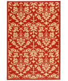 RugStudio presents Safavieh Courtyard Cy3416-3707 Red / Natural Machine Woven, Good Quality Area Rug