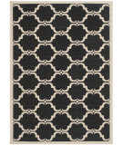 RugStudio presents Safavieh Courtyard Cy6009-226 Black / Beige Machine Woven, Good Quality Area Rug