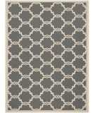 RugStudio presents Safavieh Courtyard Cy6009-246 Anthracite / Beige Machine Woven, Good Quality Area Rug