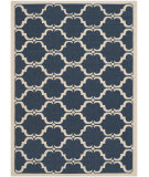 RugStudio presents Safavieh Courtyard Cy6009-268 Navy / Beige Machine Woven, Good Quality Area Rug