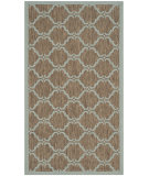 RugStudio presents Safavieh Courtyard Cy6009-337 Brown / Aqua Machine Woven, Good Quality Area Rug