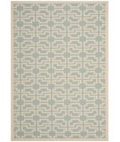 RugStudio presents Safavieh Courtyard Cy6015-243 Blue / Beige Machine Woven, Good Quality Area Rug