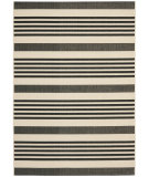 RugStudio presents Safavieh Courtyard Cy6062-216 Black / Bone Machine Woven, Good Quality Area Rug