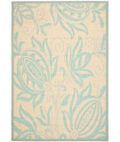 RugStudio presents Safavieh Courtyard Cy6109-15 Cream / Aqua Machine Woven, Good Quality Area Rug