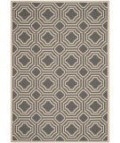 RugStudio presents Safavieh Courtyard Cy6112-246 Anthracite / Beige Machine Woven, Good Quality Area Rug