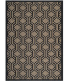 RugStudio presents Safavieh Courtyard Cy6114-81 Brown / Black Machine Woven, Good Quality Area Rug