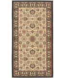 RugStudio presents Safavieh Courtyard Cy6126-26 Black / Creme Machine Woven, Good Quality Area Rug