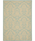 RugStudio presents Safavieh Courtyard Cy6132-25 Aqua / Cream Machine Woven, Good Quality Area Rug