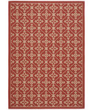 RugStudio presents Safavieh Courtyard Cy6564-28 Red / Creme Machine Woven, Good Quality Area Rug