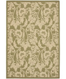 RugStudio presents Safavieh Courtyard Cy6565-24 Green / Creme Machine Woven, Good Quality Area Rug