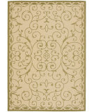 RugStudio presents Safavieh Courtyard Cy6888-14 Cream / Green Machine Woven, Good Quality Area Rug