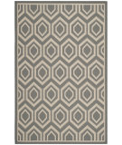 RugStudio presents Safavieh Courtyard Cy6902-246 Anthracite / Beige Machine Woven, Good Quality Area Rug