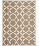 RugStudio presents Safavieh Courtyard Cy6913-242 Brown / Bone Machine Woven, Good Quality Area Rug