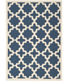 RugStudio presents Safavieh Courtyard Cy6913-268 Navy / Beige Machine Woven, Good Quality Area Rug