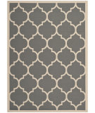 RugStudio presents Safavieh Courtyard Cy6914-246 Anthracite / Beige Machine Woven, Good Quality Area Rug