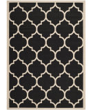 RugStudio presents Safavieh Courtyard Cy6914-266 Black / Beige Machine Woven, Good Quality Area Rug