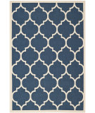 RugStudio presents Safavieh Courtyard Cy6914-268 Navy / Beige Machine Woven, Good Quality Area Rug