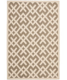RugStudio presents Safavieh Courtyard Cy6915-232 Brown / Bone Machine Woven, Good Quality Area Rug