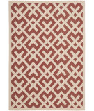 RugStudio presents Safavieh Courtyard Cy6915-238 Red / Bone Machine Woven, Good Quality Area Rug