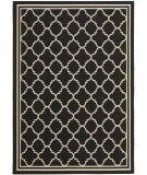 RugStudio presents Safavieh Courtyard Cy6918-226 Black / Beige Machine Woven, Good Quality Area Rug