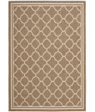 RugStudio presents Safavieh Courtyard Cy6918-242 Brown / Bone Machine Woven, Good Quality Area Rug