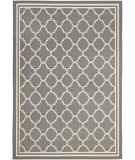 RugStudio presents Safavieh Courtyard Cy6918-246 Anthracite / Beige Machine Woven, Good Quality Area Rug