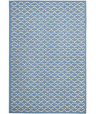 RugStudio presents Safavieh Courtyard Cy6919-243 Blue / Beige Machine Woven, Good Quality Area Rug
