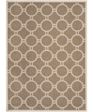RugStudio presents Safavieh Courtyard Cy6924-242 Brown / Bone Machine Woven, Good Quality Area Rug
