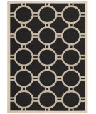 RugStudio presents Safavieh Courtyard Cy6924-266 Black / Beige Machine Woven, Good Quality Area Rug