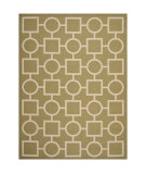 RugStudio presents Safavieh Courtyard Cy6925-244 Green / Beige Machine Woven, Good Quality Area Rug