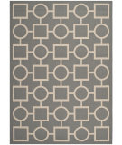 RugStudio presents Safavieh Courtyard Cy6925-246 Anthracite / Beige Machine Woven, Good Quality Area Rug