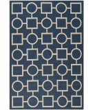 RugStudio presents Safavieh Courtyard Cy6925-268 Navy / Beige Machine Woven, Good Quality Area Rug