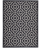 RugStudio presents Safavieh Courtyard Cy6926-266 Black / Beige Machine Woven, Good Quality Area Rug