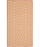 RugStudio presents Safavieh Courtyard Cy6937-21 Terracotta / Cream Machine Woven, Good Quality Area Rug