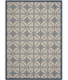 RugStudio presents Safavieh Courtyard Cy7017-258 Beige / Navy Machine Woven, Good Quality Area Rug