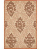 RugStudio presents Safavieh Courtyard Cy7133-11a7 Cream / Terracotta Machine Woven, Good Quality Area Rug