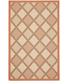 RugStudio presents Safavieh Courtyard Cy7570-11a7 Cream / Terracotta Machine Woven, Good Quality Area Rug