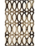 RugStudio presents Safavieh Dip Dyed Ddy675e Ivory - Chocolate Hand-Tufted, Best Quality Area Rug