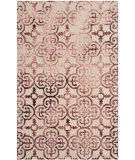 RugStudio presents Safavieh Dip Dyed Ddy711g Beige - Maroon Hand-Tufted, Best Quality Area Rug