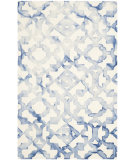 RugStudio presents Safavieh Dip Dyed Ddy717a Ivory - Blue Hand-Tufted, Best Quality Area Rug