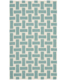 RugStudio presents Safavieh Dhurries Dhu201a Turquoise - Ivory Flat-Woven Area Rug