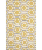 RugStudio presents Safavieh Dhurries Dhu202a Ivory / Yellow Flat-Woven Area Rug