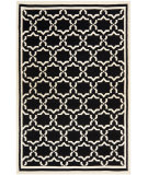RugStudio presents Safavieh Dhurries DHU545L Black / Ivory Flat-Woven Area Rug