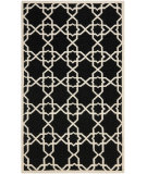 RugStudio presents Safavieh Dhurries DHU548L Black / Ivory Flat-Woven Area Rug