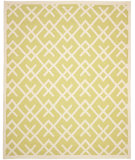 RugStudio presents Safavieh Dhurries Dhu552a Light Green / Ivory Flat-Woven Area Rug