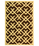 RugStudio presents Safavieh Dhurries DHU552C Chocolate / Ivory Flat-Woven Area Rug